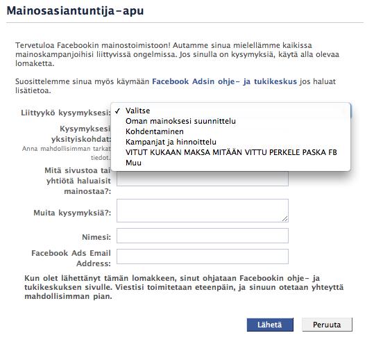 Facebookin Päivitys