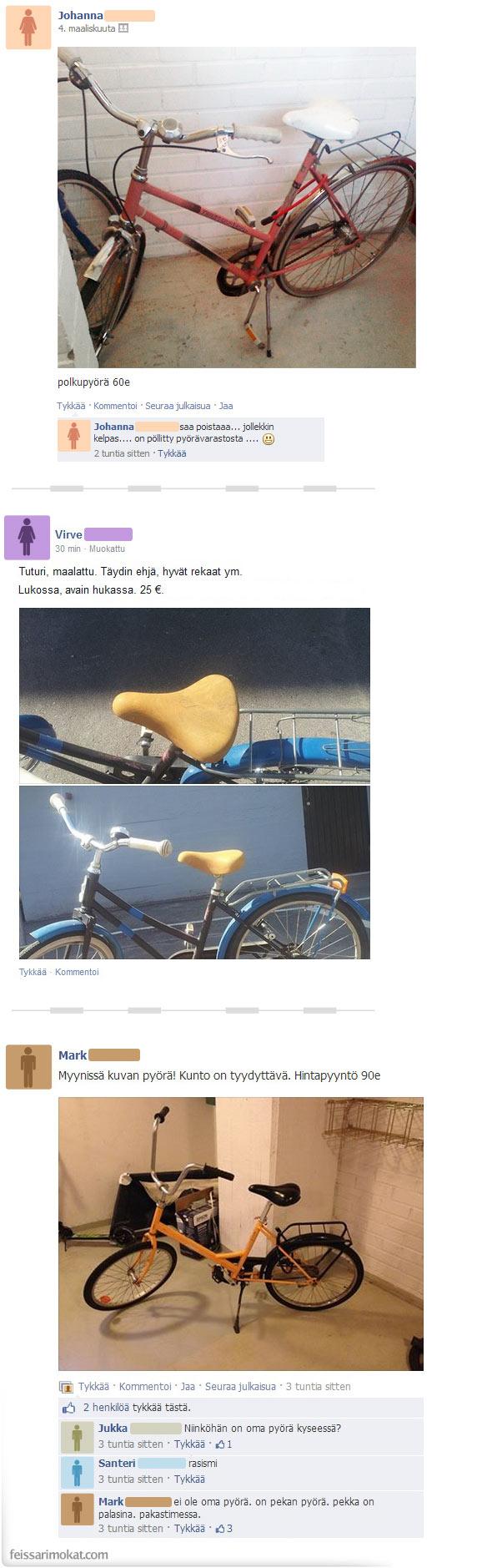 Pyöräkauppa käy