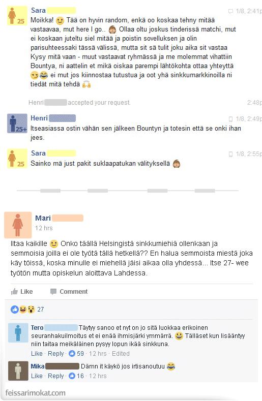 seuranhakuilmoitus helsinki seksi