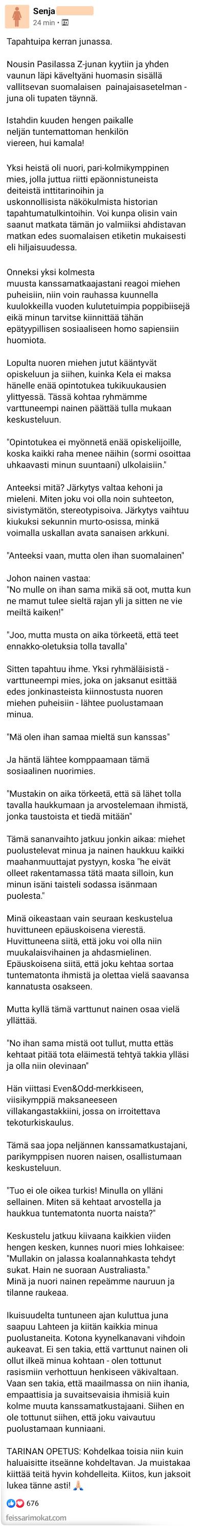 Suomalaiset puhuvat junassa