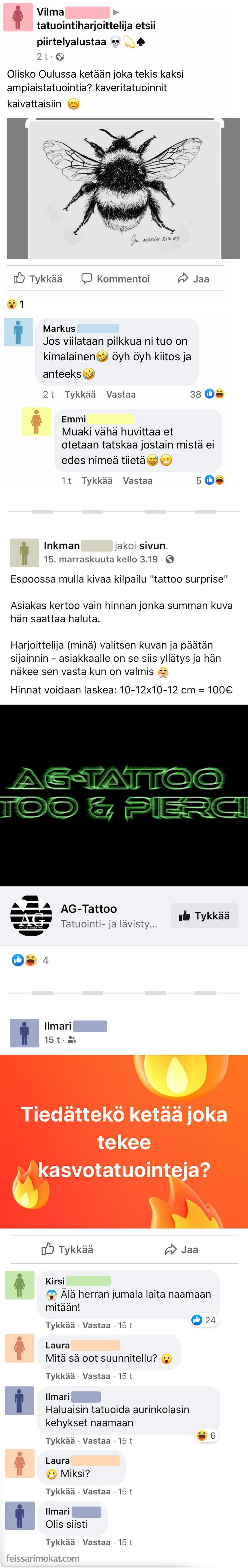 Huonon tatuoinnit ainekset